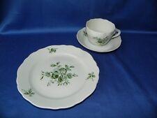 Kaffeegedeck, Tasse, Untere, Teller Hutschenreuther Maria Theresia grüne Blumen
