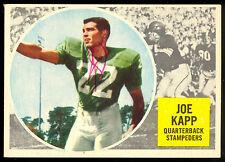1960 TOPPS CFL FOOTBALL 25 JOE KAPP RC VG-EX CALGARY STAMPEDERS B C LIONS rookie