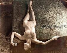 Nude Relaxing Lying On Floor SEPIA HENDRICKSON PHOTO Original Artist Studio D423