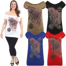 Floral Viscose Tunic Tops & Blouses for Women