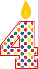 60 Personalized Happy 4th Birthday Polka Dot Return Address Labels