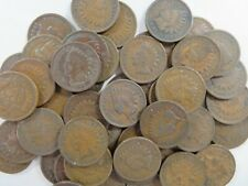 50 pcs ( 1 roll ) of Indian Head Cents Pennys  1900 to 1909 with FREE SHIPPING