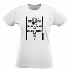 Triple Crown Womens TShirt Then Grand Slammed Champions Cup Sports Rugby Europe