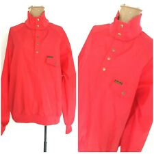 Vintage 80s Eddie Bauer Windbreaker Jacket Size Large Red Nylon Pullover Coat