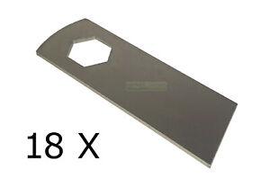 18 X Vertikutierer Messer für Kynast 15 E - 405-406, 35 V - 405-406 - HQ Stahl