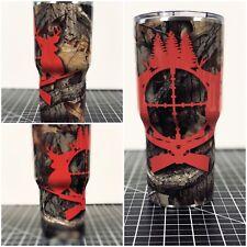 Yeti Ozark 20 Oz 30 Oz Camo Deer Hunting Custom Wrapped Cup Rambler Tumbler