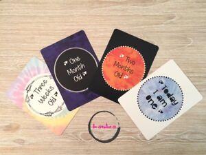 Baby Milestone Age Cards | Colourful Unisex | 15 Cards | Newborn Gift Mum | Boho