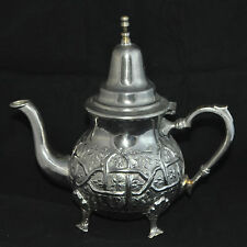 Orientalische marokkanische Teekanne Marokko antik Unikat alt Silber Kanne