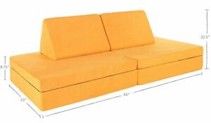 The Nugget Taxicab Yellow Kids' Comfort Play Couch Limited Edition NEW, IN-HAND