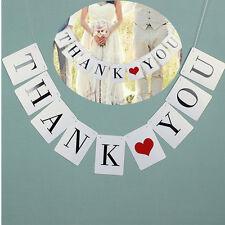 THANK YOU White Wedding Banner Wedding Sign Photo Prop Wedding Party Decor