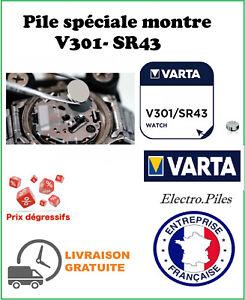 Lot Of 2 Button Batteries V303 SR44 VARTA Special Watch Silver Oxide