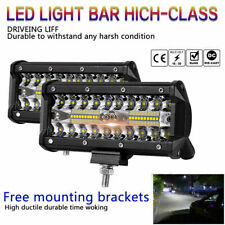 1x7inch 400W LED Work Light Bar Flood Spot Beam Offroad 4WD ATV Driving Fog Lamp