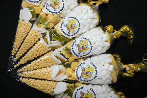 SpongeBob Party Bags Personalised Themed Pre Filled Goody Cones Birthday Sweets