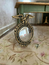 Vintage Miniature Dollhouse 1:12 Bubble Style Mirror Brass Eagle Frame Unique