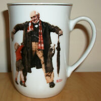"Norman Rockwell Mug ""Little Boy Reaching in Grandfather's Overcoat"" 1936 Puppy"