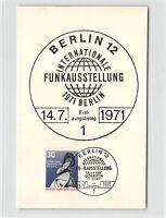 BERLIN MK 1971 FUNK-AUSSTELLUNG MAXIMUMKARTE CARTE MAXIMUM CARD MC CM d9720