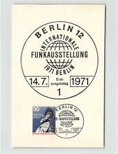 BERLIN MK 1971 FUNK-AUSSTELLUNG MAXIMUMKARTE CARTE MAXIMUM CARD MC CM d9720