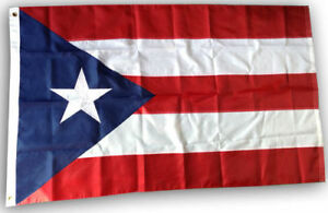 6x10 Embroidered Sewn Puerto Rico 600D Nylon Flag 6'x10' Grommets Clips