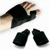 2 Big Toe Bunion Splint Straightener Corrector Hallux Valgus Foot Relief Black