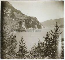 Suisse Alpes Montagne Photo G3 Plaque de verre Stereo Vintage