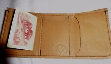Buffalo leather Trifold wallet Natural  NWT! Factory Warranty