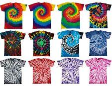 Tie And Dye T-Shirt Tye Die Festival Musique Hipster Indie Unisexe Rétro T-Shirt
