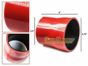 """2.75"""" To 2.5"""" Silicone Hose/Intake/Intercooler Pipe Coupler RED For Daewoo"""