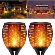 1-8 Small Torch Flame Light Solar Power Torch Light Garden Lamp Parties Lamp Set