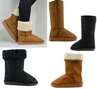 Women Winter Snow Boots Snug Fit Fur Warm Comfy Ladies Fashion Shoes Girls Long