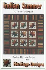 Indian Summer Quilt Pattern by Jane Bazyn for Heritage Designs - NEW