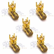 5 Pcs SMA-KWE Female Jack Right Angle PCB Board Mount Coaxial Adapter Connector