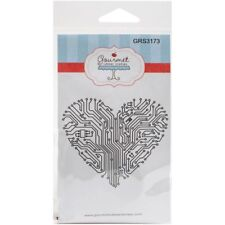 Circuit Board Heart Cling Rubber Stamp Gourmet NEW love valentine gift card note