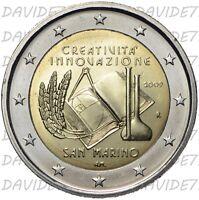 REPUBBLICA DI SAN MARINO - 2 EURO 2009 - ANNO EUROPEO CREATIVITA INNOVAZIONE FDC