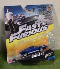 Mattel 1:55th échelle DIE-CAST Fast & Furious 32/32 rapide cinq FORD GT-40
