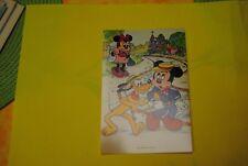 cp carte postale vintage  année 70 walt disney : mickey mouse minnie pluto