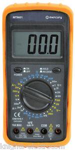 PROFESSIONAL DIGITAL MULTITESTER multimeter test multi meter volt amp  MTM01