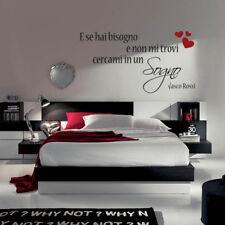 adesivo murale wall stickers frase adesivi vasco rossi amore sogno emozioni