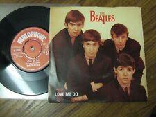 "THE BEATLES - LOVE ME DO - PIC SLEEVE 7"" PARLOPHONE 45- R4949 / 1982  MINT VINYL"