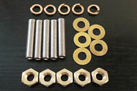 MG Rover K Series Engine Exhaust Manifold Studs & Brass Nuts  MGF ZR ZS ZT 25 75