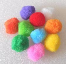 Pom Poms:  Pack of 20 Multi-Coloured 30mm Fluffy Pom Pom Balls