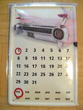CADILLAC Blechkalender 20cm x 30cm Dekoschild, Funschild, Tin Plate