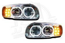 New Peterbilt 388 389 Full LED Headlight | Chrome | Pair (LH & RH)