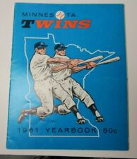 1961 MINNESOTA TWINS YEARBOOK PROGRAM MLB BASEBALL RARE