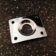 New oblong jack mounting plate silver finish for electric guitar