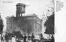SAN FRANCISCO CALIFORNIA EARTHQUAKE HALL OF JUSTICE POSTCARD 1906