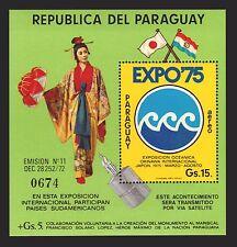 JAPAN OCEAN EXPO JAPAN COSTUME UMBRELLA GEISHA Paraguay MNH S/S  #C404 cv$15