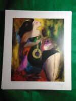 Linda Le Kinff Note d'Or Signed & Framed Seriolithograph with C.O.A