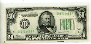 1934 $50 FRN FEDERAL RESERVE NOTE - Cleveland # 493A