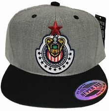 LAS CHIVAS RALLADAS DE GUADALAJARA E/RED MEXICO HAT HEATHER GRAY BLACK SNAP BACK