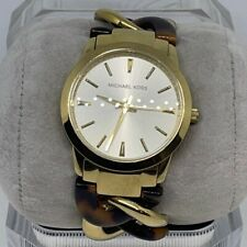 "Michael Kors Women's Lady Nini Gold Tone Stainless Steel Watch 6"""